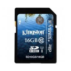 Карта памяти Kingston Elite SDHC 16GB Class 10 UHS-I R30MB/s